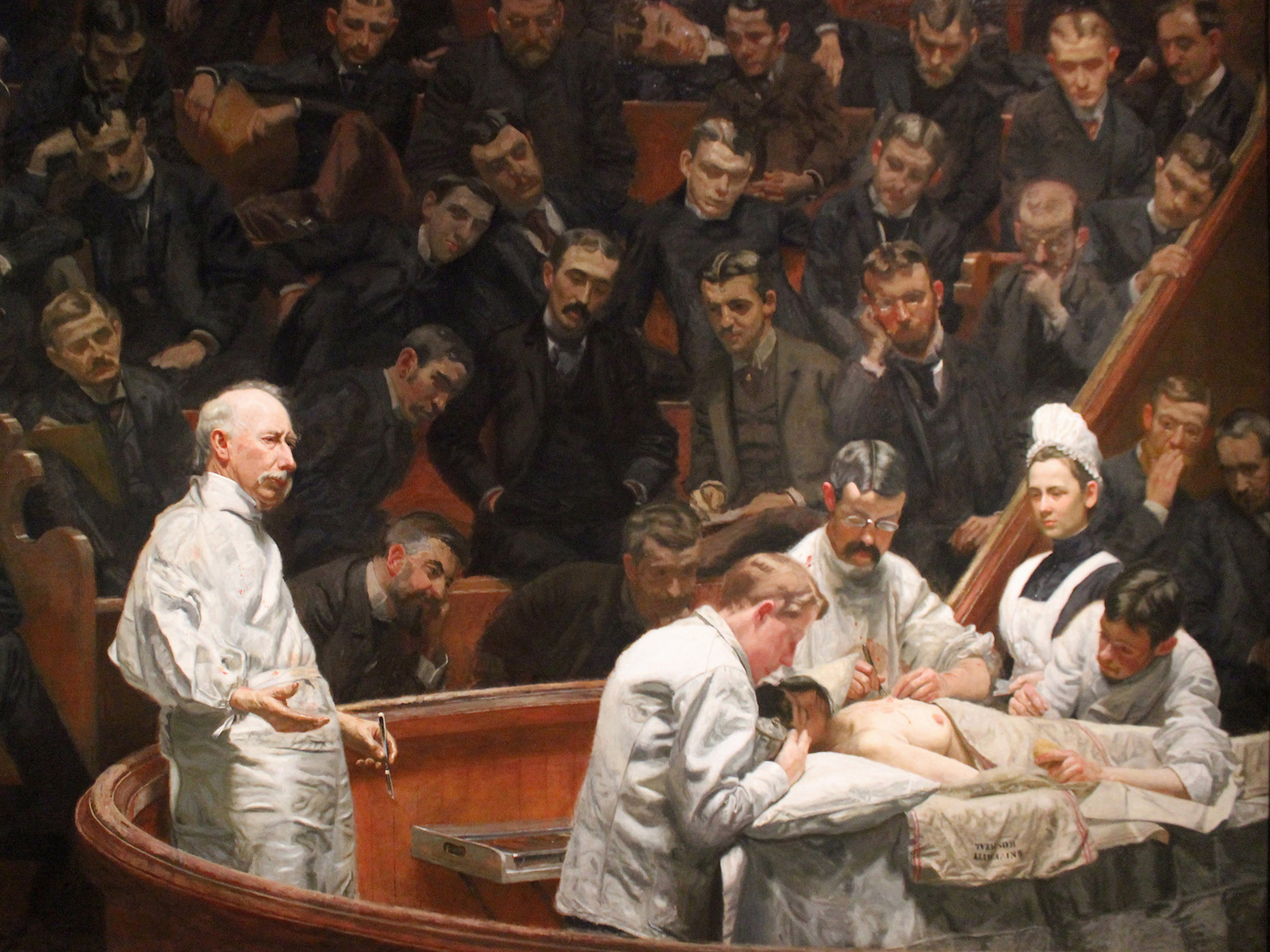 The Agnew Clinic, Thomas Eakins, 1889, oil on canvas